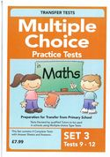 Multiple Choice Practice Transfer Test in Maths Set 3 Tests 9-12 by Pat Quinn